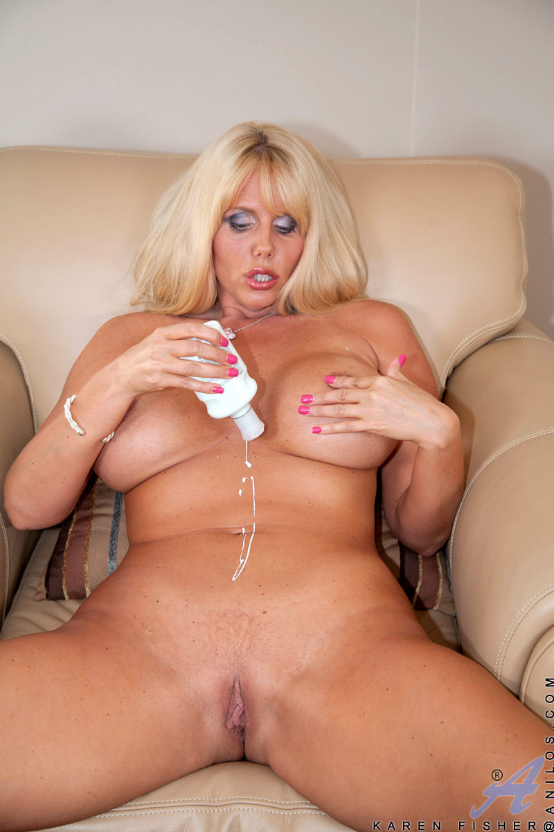 Blonde Milf First Threesome