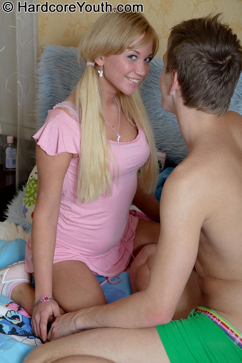 Blonde Teen Foot Smelling