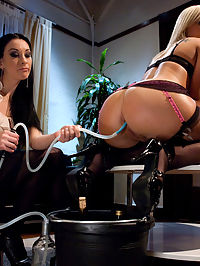 Taras Ass pounding interview... hardcore and sexy : Does Tara Lynn have what it takes to be one of Miss Januarys ass-servants? Taras young ass is big, round, hardcore and sexy as hell, but Miss Januarys clients are very discerning and require more than just beauty - they need a hard-working ass-slave. Miss January prepares Tara for work by shaving her sweet ass, and cleaning out her pretty pink asshole with an incredible enema. Once Taras ass is smooth and clean, Miss January test drives her skills in the most cum-filled job interview Tara Lynn will ever have. Miss January tests Taras ablility to service herself, watching as Tara fucks her own ass with massive glass toys until she cums. Tara proves her ability to service clients by worshiping Miss Januarys hot ass with her greedy little tongue in some of the hottest ass-lickingfacesitting weve seen. Finally, Miss January straps Tara into body stocks for a real test drive, pounding Taras ass mercilessly while the sweet young blond ass-whore cums like a true ass-slave. Does Tara Lynns hot ass have what it takes? Were pretty sure she got the job.