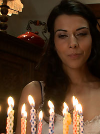 Birthday Surprise : In this fantasy role play update Lou Charmelle plays a wife who is dissatisfied with her sex life. When her husband overhears her talking on the phone about how she wishes he would spice things up and incorporate some of his hot friends, he decides to give her the ultimate birthday surprise, a gang bang!