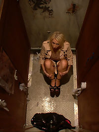 Big Tittied Rich Girl Mercilessly Fucked in a Dirty Bathroom she is cumming : Candy Manson plays a sexy rich girl who has to use the disgusting Mens Bathroom when she finds the Girls Bathroom locked. When a gang of guys come in to use the facilities she hides her feet to avoid causing trouble, but her phone rings unexpectedly and gives her away. Once the guys see her she is cumming bound in duct tape and made to suck cock on the dirty bathroom floor.