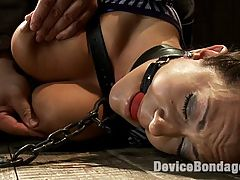 Boobs rihanna in bondage - A day with Trina : Trina Michaels returns. She is strapped down and stripped down. Her body is meant for bondage and she needs to be infiltrated. With ass out, nipples clamped and pulled taut, all Trina can do is thrash around while the belts around her throat restrict her breathing. The perfect scenario to plug that ass and get in that pussy.Next, this device slut is fastened to the floor, ass raised, her legs are put into a frogtie trap. Her neck restrained and blindfolded, all Trina can do is endure the little black clips from arm to asshole. A vibe and dick is locked into her cunt and her body is worked over with the cane. Just the right ingredients for an explosive orgasm.This big tittied shining star is bolted to the wall, off the ground. Her head is locked into a head trap, her limbs spread wide and titties clamped down tight. A dildo is secured into her mouth, because who doesnt enjoy the sound of gagged screams of pleasure.?The fuck machine is shoved in her and relentlessly fucks her into multiple orgasms.