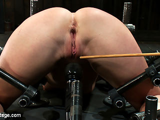 Another classic porn star Wrecked by Orgasms : The very luscious Aurora Snow is back for another update. We keep it simple, binding her to the floor, head down ass up. The lady looks quite fetching in this position, and it gives us full access to her famously hot ass and cunt. We play a little target practice with the flogger and cane, fuck with her pussy, plug her ass. Aurora is a porn veteran, but shes pretty new to our kind of play, so her reactions are genuine and priceless. Adorable little squeaks and moans full of the wonder of exploration. We bolt down a Hitachi so that its pressed up hard against her pussy. Auroras not used to the vibe. She cums, but then her poor little porn star cunt gets sensitive. She tries to wiggle away, but theres no escape. We make her come again. And again.