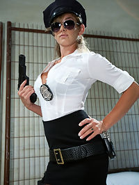 Corrupt Bitch Cop : In this fantasy roleplay Curt Wooster gets thrown into the slammer for smuggling drugs into the country. Felonys a corrupt cop that makes her own rules using him as her little prison bitchboy with blackmail and financial domination. Curts a macho smartass but soon ends up at the boot and mercy of this wicked bitch till hes dripping precum from the tip of his dick. Hes so turned on by the power exchange but doesnt want to admit it. YOUR DICK DOESNT LIE BITCH! Over the knee spanking, strap-on fucking, tease and denial, squirting, flogging, paddling, humiliation, dildo gag, foot, boot and pantyhose worship are all included in this update.