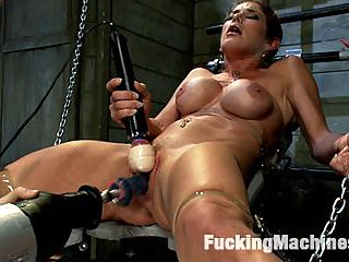 Criminal Fucking Felony comes to FuckingMachines.com cum and go : Her excitement bubbles out of her - the unknown, the expected, the orgasms...Felony has fucked every which way but here with the machines in our hands, her pussy in our hands, her ass at our mercy. She gets the fucksall full throttle from the start and her pussy greets the machine with dripping cum and go gallons of squirt within 10 seconds of entering her. The camera lens is soaked, the machine is drenched and Felony is breathless, shocked. Her ass AND pussy are next to get nailed in a double penetration, two machine fucking. The Little Guy works her pussy, the Fucksall jams her ass. Felony takes and takes until words leave her and her body twitches uncontrollably. She cums so hard she forgets time. Between babbles of cum drunk incoherence, she asks for more, more, more. She takes until she kills the machine, squeezing its life out with her pussy contractions! Pure sexual brilliance.