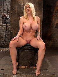 California blond fat women with huge tits has them bound to her knees and spreadMade to squirt and scream! : Candy Manson and her amazing body are back and taking more abuse then normal. Her monster tits are bound to her knees and her legs are spread open, the ultimate in humiliating positions!On her back with her tits bound and her legs up in the air Candys pussy and ass are perfectly exposed as are her feet. We start by abusing the tender soles of her feet, Bastinado as they call it. Candy is taught a cruel lesson in accepting foot punishment and we teach her well as her screams would attest. Next we attack her beautiful shaved wet puffy pussy. We finger fuck and vibrate Candy to brutal orgasm after orgasm. We make her beg, scream, and squirt. Candy cums so hard and so often her pussy swells to about 3 times its normal size, so we do what any responsible professional would do, we make her squirt more..