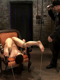Pain slut, destroyed with pleasure.Massive orgasm overload totally implodes this whores brain. : Cheyenne Jewel prides herself on the amount of pain she can handle. She has trained her brain to enjoy the pain. Not so much with extreme orgasm overload however, not so much..The shoot starts with The Williams beating Cheyennes exposed ass and beating it well. She has given us permission to mark her soft skin so we comply. We soon move on to a cane and work up and down her sexy legs and spend a lot of time on her feet. With her big toes tied to the floor her feet are perfectly exposed for some abuse. However the real fun is watching this pain slut become completely unglued when we make her cum over and over and over. The tears, the sweating, the begging, the screaming, more tears and begging. More brutal orgasms she cant control or stop. Fun times, fun times...