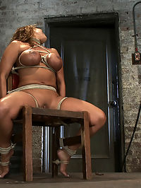 Classic HogtiedBig Titted MILF in the chairOrgasm after Orgasm no Mercy cum and go : Welcome back Ava Devine to the chair. Sure she has sat in that chair before, but some things are just worth updating. We simply love making Ava cum. But what is fascinating is how stressed out we can make Ava and yet still make her come. We jam a ball gag tightly in her mouth and hang a heavy weight from her neck. This is real stress and yet we can still make this girl cum and go cum and cum. The female body is strange like that, the more stress you put on it, the harder the orgasms are.