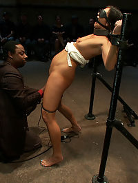 Pushed to the Limit With Uncontrollable Orgasms Made to Cum Over and Over by Strangers she is cumming : Cece Stone is bound in metal shackles, blindfolded, gagged, and helpless in front of a ravenous crowd. One after the other people cum and make her cum till she is cumming a blubbering mess of girl that cannot speak, let alone cum anymore. And that is just the first scene!