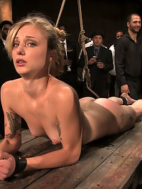 Local amateur tries BDSM for the first time ever and is rewarded with 4 hard black cocks! a group of people having sex : Catrina Cummings has never tried BDSM before. She is a total novice. She gets tied down and stripped by a group of people having sex 50 people who use her for their amusement. She gets fingered in the ass while bound then pulled into agonizing bondage with an ass hook attached to her hair. She is locked in metal fetters and made to service multiple cocks while bound and helpless. She is caned and flogged. She is fucked by multiple men. When she doesnt perform as desired she is humiliated watching Bella Rossi get all the dick and all the pleasure. In the end she pulls through and is ready for more.