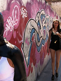 Starring Oliver, Leyla Black sex in latex : Leyla Black gets tied up and fucked in public while strangers fondle her tits and finger her holes. She is restrained sex in latex with a vibrator and electricity under her clothes and made to cum while walking through the streets.Then she gives a handjob to a random dude on the street, covered in cum and left chained to a pole.