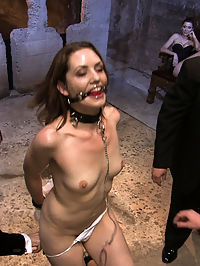 Brand new girl gets her porn intitation on Public Disgrace!!! loads of cum shots : Sarah Shevon is a brand new local girl who, aside from a fucking machines amateur shoot, has never been on camera before. Despite how green she is Sarah is very eager to please and hungry for pain and orgasms. She submits beautifully to a room full of people and then finishes off by licking three loads of cum shots off a serving tray.