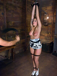 Jasmine : Jasmine met Isis Love at her job working as a bank teller. Intrigued by what Isis does she decided to take the day off and come to Kink.com. Here, she does her first BDSM Lesbian sex scene for the world to see.