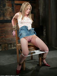 Starring DragonLily, Haley Scott she is cumming : Haley looks so cute and innocent as she is cumming tied up and worked over by DragonLily. She has a high pain tolerence and gets fucked pretty hard with the strap-on. Good interaction and positions in this update!