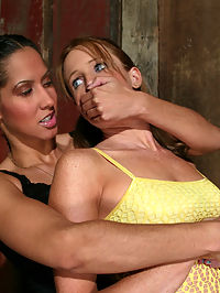 Starring Jessica Sexin, Isis Love spanking with sex : Jessica is caught snooping around the barn by Mistress Isis. She is carried inside and hogtied helpless. A good spanking with sex a leather belt leaves her fair skin bright red. Isis makes her slave lick her ass. Then, wearing a humiliating dildo gag, she is made to fuck her mistress until orgasm. Lastly, she is fucked in her virgin ass with a strap-on. Both girls enjoyed their debut at whippedass.