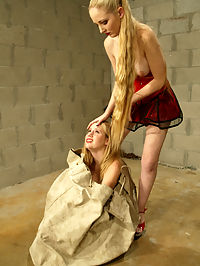 Starring Maklaryn, Chanta-Rose in the ass : Maklaryn is punished and humiliated in the ass cell by Chanta. There is good tit slapping and strapon fucking here.