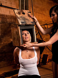 Beautiful Blonde porn videos with big tits gets Oiled up and Used as a Cum Canvas : Skylar Price is one of the best models Kink has seen in a long time. Shes got a hot fucking body, smooth tan skin, a shaved pussy, and a tight cunt and ass. Princess Donna helps her with her fear of electricity by locking her head in a box and zapping her with tazers, electrical plugs, ripping orgasms from her pussy with the hitachi, then using her body as one giant cum canvas. She gets tied down and oiled up while Princess Donna rubs her pussy all over her tits, face, and mouth.