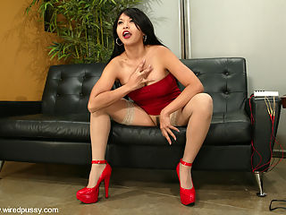 Starring Mika Tan : The beautiful Mika Tan is back after far too long an absence! What we love about this girl is how easy it is to make her cum she loves electricity, being penetrated, tied up and vibrated...put them altogether and you get one hell of a climax...so much so that after many orgasms she almost fainted!!!