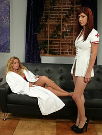 Starring Goldie, Sasha Monet girls with big tits free : The gorgeous Goldie isnt feeling well so Nurse Sasha makes a housecall! After a thorough examination and giving Goldie an orgasm Sasha realises her patient may not be so ill after all! Goldie is tied up and made to cum again before Sasha decides to join in. If youre a fan of beautiful girls with big tits free breasts cumming with electricity this is the update for you!!!