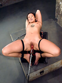 Hot Asian babe, Jandi Lin takes on the machines ways to make oral sex better : Jandi Lin is highly sexual, open to try anything kinky kind of girl. So we let her have a little bit of everything today - some bondage, a little anal and a good stretching for her tight pussy. Unfortunately Jandi cant cum without a vibrator so we come up with ways to make oral sex better her earn her clit tingling vibes. This set also debuts the Titan as a bondage device as Jandi is strapped to the machine and pulled back and forth on a dick by the machines rhythmic motion.