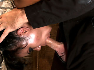 Pussy flogging, caning, nipple torture, face fucking, finger fucking and 2 massive squirting orgasms! synonyms of the : Annie Cruz is back and looking hot as ever. This flexible tough Asian chick is hardcore in every sense synonyms of the word. Who doesnt like a girl who squirts like a fire hose when they cum?Annie runs the gauntlet. Bound in a traditional Japanese box tie, we pull Annie off the ground only by her ankles. We dont use those fluffy German-bought suspension boots, those are just too comfy we use our own leather straps. If youre going to be in bondage, you might as well feel the bondage.We cane her, flog her, flog her shaved pussy, clamp her nipples, add weights, and face fuck her skull. We make her cum over and over. We make her squirt all over herself. It runs down her body into her face, her eyes, her mouth. All this while hanging upside down and helpless. Then we pull the ropes to arch her brutally and start the process all over again. Annie is tough, dont let anyone ever tell you otherwise...
