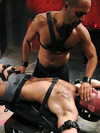 Wax Torment, Electricity and a Headless Fuck love the cock : Leo Forte is a true switch and today he doms Drake Jaden. Leo takes his boy down to the dungeon and straps him on the cross. Drakes cock gets instantly hard with anticipation. Leo slaps love the cock hard and shocks the hell out of it and the boys butthole with electricity. Drake screams even louder when Leo lights the suspended candles above him. The boy endures relentless wax torment, hard flogging, and a crazy fuck where his head is buried beneath the dungeon floor.