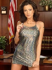 Mature attorny breaks all the rules in her office