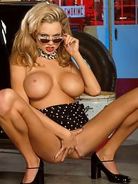 Briana Banks nude at retro gas station