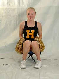 Tasty and tight hottie with pompoms