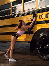 Teen hottie showing off her cock sucking skills