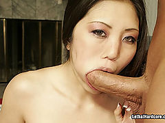 Horny Japanese Girl Banging Anally