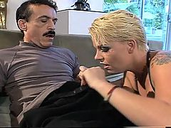 Punky Blond Takes Brutal Ass Fucking