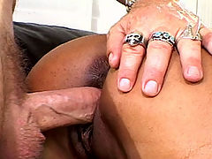 Exotic looking amateur getting a hot and sticky facial