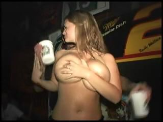 Wild party girls going crazy and flashing their tits