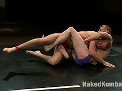 Blake Daniels vs Drake Temple : All American bad boy Blake Daniels is still pumped up after his recent win over Emanuel. This time hes up against Drake Temple and hes thinks hes gonna take him down hard. Drake got his ass handed to him on the mat, and then had it fucked hard while tied to a tree, the first time he wrestled on NK with Alessio Romero. But hes been brushing up on his holds and plans to open a can of whoop-ass on Blake and make him his bitch. Will Blake keep up his winning streak and make Drake endure a humiliating, hard fuck or will Drake claim his first NK victory and celebrate by splitting Blake in two with his big, uncut dick?