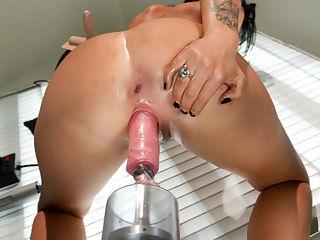 Licking Up Her Squirt The Ever Wet Jenna : Jenna Presley tries to put out her flames of hotness with her squirt and FAILS - she is just simply too hot! In her first shoot, Jenna was an instant Hall of FuckingMachines.com contender before she even took her clothes off. Her tight, sexy body and pussy that gives and gives and takes and takes makes Jenna a champion of machine fucking and makes us very, very lucky. She continues her reign in this epic shoot with big dicks, fast machines and so much pussy squirt she has to lick it up to save herself from slipping and sliding all over the medical set. The Sybian is still wet from her and you can rest assured that this babe will be back for more. FuckingMachines.com films hot girls like Jenna LIVE four times a month. The shows are FREE to members - just one of the many perks of membership. Join us and chat with the models, suggest machines and positions, see all the behind the scenes and possibly even have your name shouted while the girl is cumming. The Next live show is Monday Aug 29th.