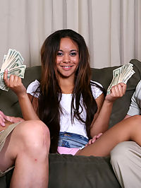 The guys that make DVDs out of Dick and Rods naughty home movies should have known what would happen when they hired sweet, sexy, 19yr old Monica to work the front desk at their office.... One day Dick and Rod would come in and convince her to show them what shes learned watching all that free porn.