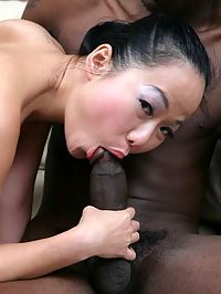 We met this little asian delight at a local restaurant. We invited her back to the studio cause, oh she so horny and we were hungry for asian take out. Watch as we crack open her fortune cookie, and annihilate her ass as she loves us long time. And in the the end she could barely WOK that ass home........