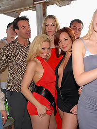 Its another game of pass the pussy as these sexy party going debutantes line up their pretty privates for a little porkin fun! Watch as these red-blooded cocksmiths work their way down this pretty buffet line at this smokin hot orgy sex party!