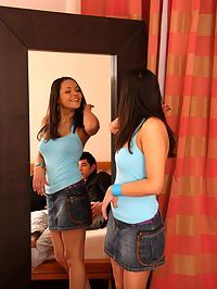 Teen foursome : Amazingly hot teen foursome action with 2 cuties