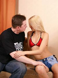 Cute Blonde Fucked : Barely legal fucks old man