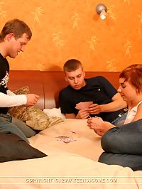 Strip Poker Teens : She didnt know shed be fucked