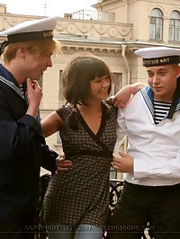 Teen Fucks Sailors : Shes shy and fucked