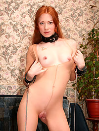 Nasty redhead shares a cock with a blonde : Evelin is a young girl who was seduced by a cougar! This mature woman talked Evelin into having sex with her and her husband in a nasty threesome. She got her pussy eaten by the older woman and then fucked by the husband! Then little Evelin ate some pussy of her own as she went lezzie. She was fucked up the ass and seduced by this horny couple that wanted her badly!
