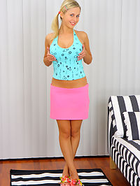 Teens ass is stretched with several objects : Mandi is a feisty blond who is ready to get her ass violated and eager to do it. After lubing up with anal lube, she gets a large vibrator stuck in her ass while bending over doggy style. She then gets fucked in the ass with a dick that was as big as the vibrator! She then gets the guys load of cum shot all over her eagerly waiting face and tits.