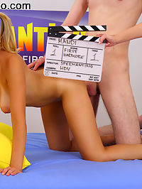 Big titty teen gets fucked on camera for the first time : Mandi has some cute little tan lines from her bikini, dont you think? She was a perfect candidate to come into our studios and shoot her first movie. She sucked his cock like a popcicle and then he rammed it into her slick pussy. Mandi then took charge as she climbed on top of his cock and rode him hard. The teen cutie did well on her first porn shoot and she looked even cuter with his spunk on her face!