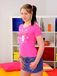 Cute pigtail babe got fucked until she took a creampie : Bruna and her man were fooling around and getting naked on the bed. She then grabbed ahold of his cock and sucked it deep into her mouth! He wanted nothing more than to bang that little pink pussy, so he slipped it inside of her. Bruna begged for it harder and they were both so turned on that he never wanted to pull out! So he shot his load inside her cunt and in the end, Bruna let it come oozing out!