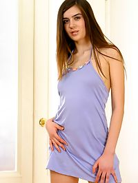 Tall sexy teen gets slowly undressed