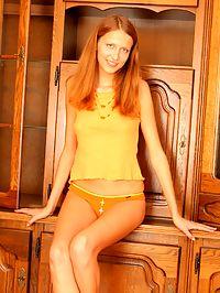 Hot Russian teen looks cute in her little panties