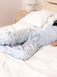 Patricia - Pajama Pump : Beautiful honey sheds pajamas and toys tight holes in bed